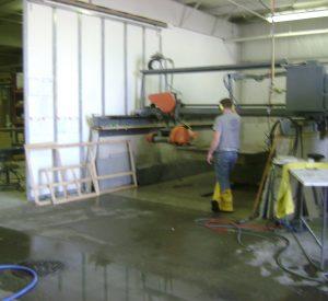Granite cutting process